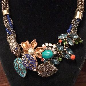 Stella & Dot Jewelry - Stella & Dot collage style necklace with a snake